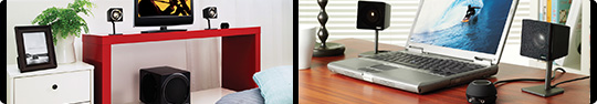 GigaWorks T3 in various lifestyle scenarios