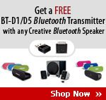 Get a FREE BT-D1/D5 Bluetooth Transmitter with any Bluetooth Speaker