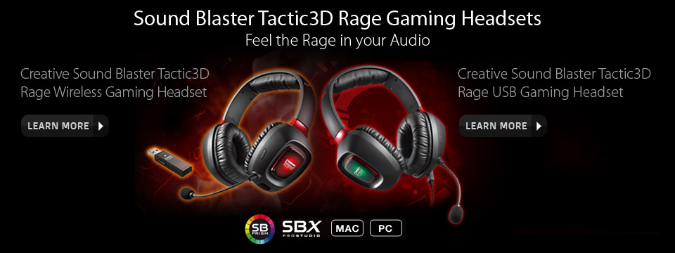 Tactic3D Rage Gaming Headsets - Feel the Rage in your Audio