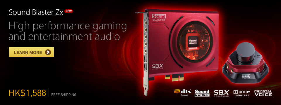 Sound Blaster Zx - High performance gaming and entertainment audio
