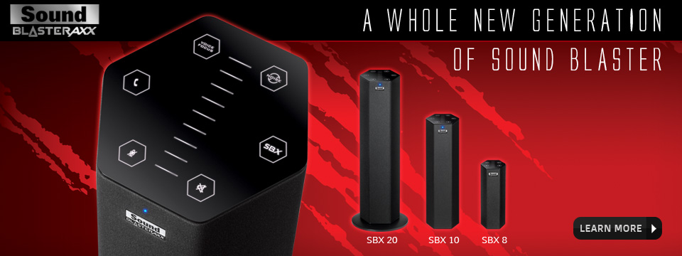 Sound BlasterAxx - A whole new generation of Sound Blaster