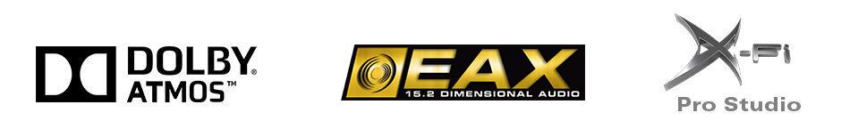 Dolby Atmos | EAX 15.2 | X-Fi Pro Studio