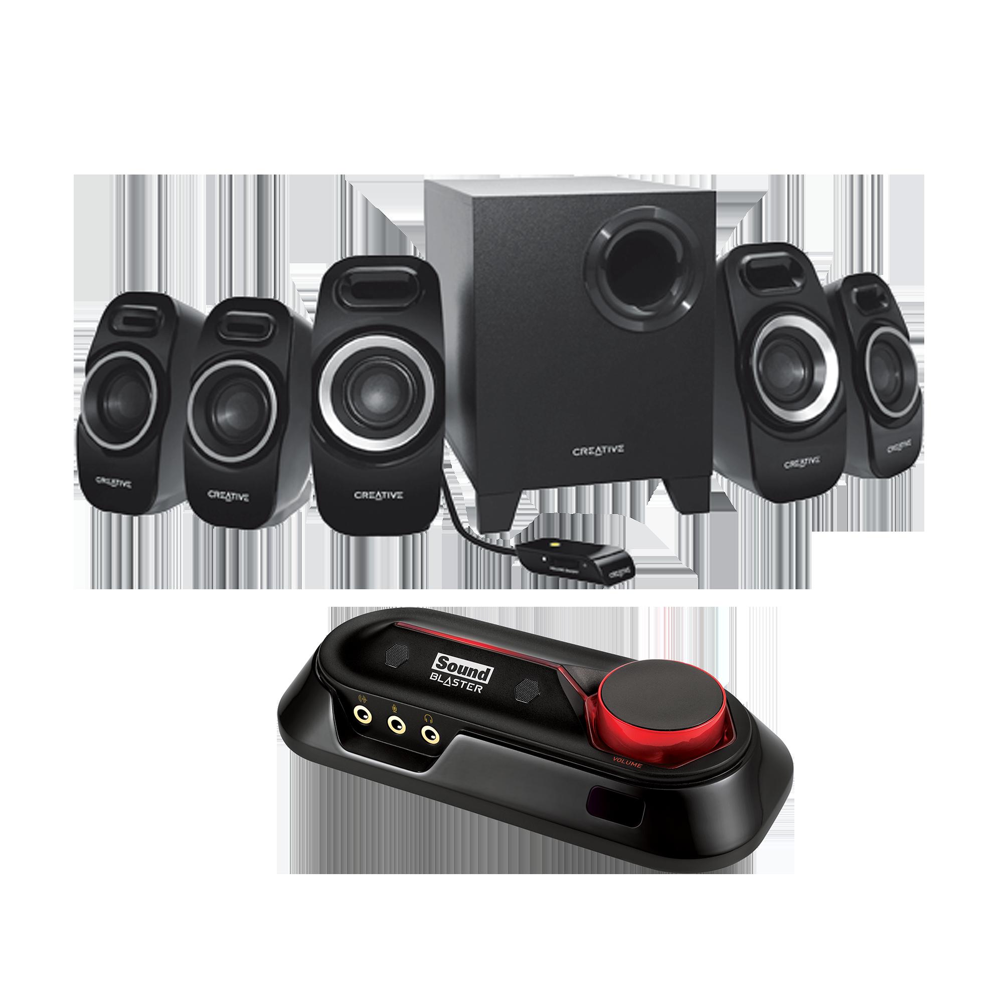 Sound Blaster Omni Surround 5.1 Entertainment Bundle (Euro Plug)